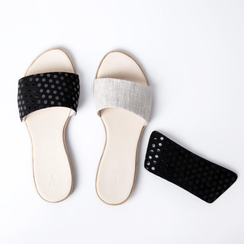Klipsy BLACK POLKA DOTS VOLO SHOES