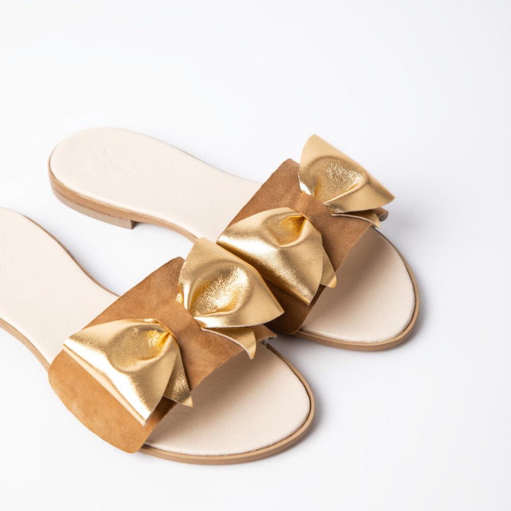 Klipsy GOLDEN SAND BOW VOLO SHOES