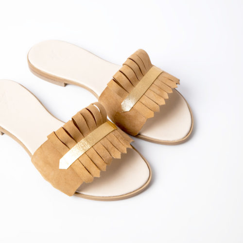 Klipsy GOLD SAND MOCCA VOLO SHOES